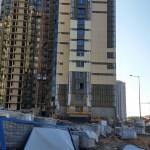 Возведение вентилируемого фасада, керамогранит со скрытым креплением, осень 2014, Объект подмосковье
