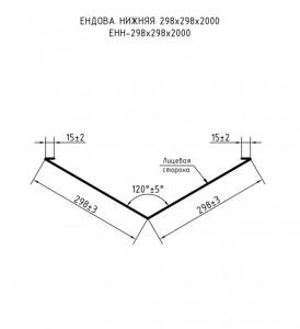 Ендова нижняя ЕНН 298х298х2000