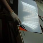 Изготовление фасонных элементов из тонколистового металла, не стандартного цвета, для нужд ТЦ Макси г.Череповец 2012г.
