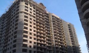 Монтаж вентилируемого фасада Керамогранит с креплением подсистемы в межэтажные перекрытия.