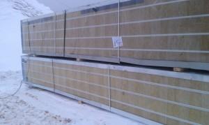 Поставка сэндвич панелей и фасонных изделий с комплектующими для теплого помещения ТД ВКБ Осень 2012г.