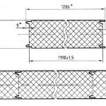 Сэндвич панели стеновые с замком с потайным креплением